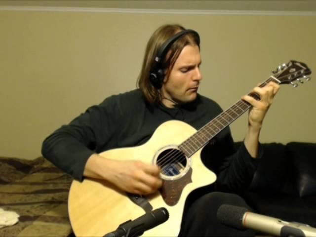 Ewan Dobson - Winter By The Sea на гитаре Ibanez AE900 -NT